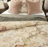 Pottery Barn Grace Duvet Cover Queen Floral Linen Texture New No Shams