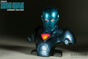 Sideshow Stealth Iron Man Legendary Scale Bust non exclusive #197