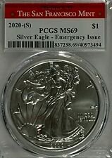 2020 S Silver American Eagle Emergency Issue PCGS MS 69