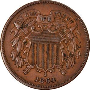 [#877364] Coin, United States, 2 Cents, 1864, U.S. Mint, Philadelphia, AU