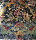 """Antique Early 20th Century French 16X19""""Needlepoint Petit Point Figural Phoenix"""