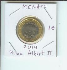 2014 1€ MONACO 1 Euro  1-€ Bimetallic Coin Prince Albert II !!!