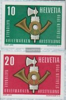 Schweiz 672-673 (kompl.Ausgabe) postfrisch 1959 NABA St. Gallen