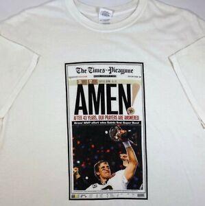 New Orleans Saints 2010 Times Picayune Super Bowl Amen Tee (Fit Size L)