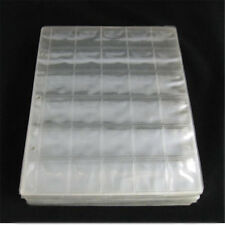 1 Sheet 30 Pockets Plastic Coin Holders Storage Collection Money Album Case Us