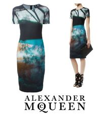ALEXANDER McQUEEN - NEW Haze Photo Print Stretch Dress ~ size: S / M * AUTHENTIC