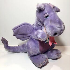 "Vtg Dragon Plush Purple Lilac Pink Dakin Duncan 1983 Stuffed Animal 12"""
