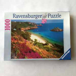 RAVENSBURGER 1000 Jigsaw Puzzle Jersey Portelet Bay Beach Landscape 156979