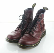 02-29 $150 Women's Sz 7 M Dr. Martens 1460 Leather Combat Boot In Cherry Red