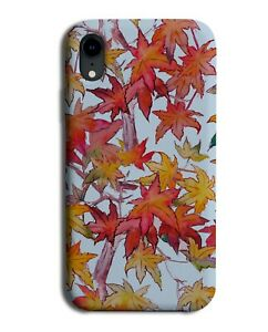 Autumn Falling Leaves Phone Case Cover Red and Orange Leaf Shapes Picture G168