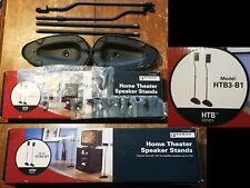 SANUS HTB3-B1 Home Theater Adjustable Height Satellite Speaker Stands Pair