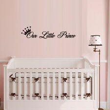 "DIY ""Our Little Prince"" Crown Wall Sticker Art Decal Baby Boy Nursery Bedroom"
