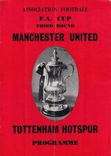 Manchester United Tottenham Hotspur 1967 Football Programme FA Cup third 3rd rou