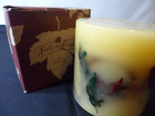 *Longaberger  Falling Leaves Candle 4X4