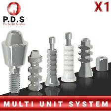 1x Dental Titanium Straight Multi Unit 1mm 6mm Length Full Set All Parts