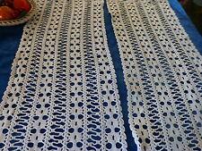 lot 2futurs rideaux ou jeté de table crochet coton fait main neufs