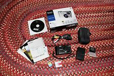 Sony Cyber-shot DSC-H55 14.1MP Digital Camera (Black) - box, card & case