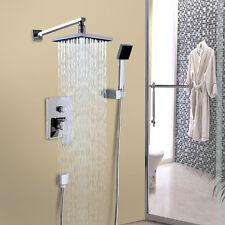 """8""""  Rainfall Shower head Arm Control Valve Handspray Shower Faucet Set Modern"""