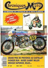 CHRONIQUES MOTO 29 Brough Superior 680 1931 VESPA Sammy MILLER SOLEX 1946-1954