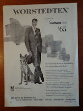 WORSTED-TEX Men Suit 1953 ad Advertisement