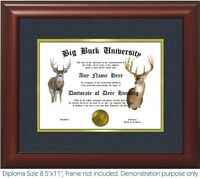 Deer Hunting Diploma - Personalized With Your Name/Date - Best on eBay