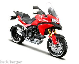 Ducati Maisto Ready Model Multistrada 1200 S 1:18 Red Standing Model New