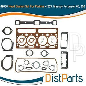 69036 Head Gasket Set For Perkins 4.203, Massey Ferguson 65, 356