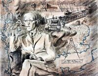 WWII Donald Coleman Bailey by English Frances Macdonald. War Art. 11x14 Print