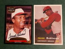 1996 Frank Robinson Autographed Canadian Club Plus Free 1957 Topps reprint #2