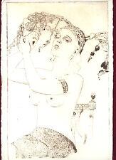 CBY Art - Akt Art Deco Kaltnadelradierung Burlesque Original Radierung limitiert