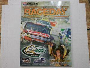 Nascar Kentucky Speedway program from 2012
