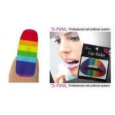 Rainbow Coloured Flag Lip Tattoo Sticker Nail Foils Gay Pride LBGT Festival