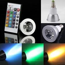 E14 LED RGB 3W 16 Colors Change Lamp Light Bulb + 24 key IR Remote Controller