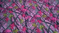 """Camo Twill Fabric Sassy B Pink Cotton Poly Water Repellent 60"""" Camouflage By Yd"""