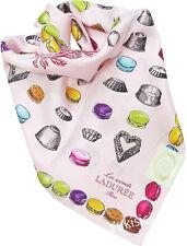 LADUREE Paris Japan Timbales Moules Macaron Pink Color Large Cotton Scarf-59cm