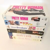 VHS Tapes Lot Of 6 GI Jane Pretty Woman Now And Then Mystic Pizza Heartbreakers