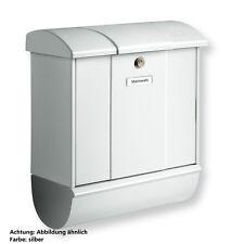 Burg Wächter Briefkasten Olymp-Set mit Zeitungsbox 91600 Si Silber Neuware