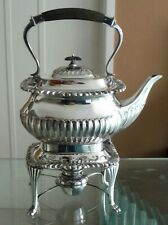 ANTIQUE SHEFFIELD SILVER PLATED KETTLE/STAND/BURNER-W HUTTON ^