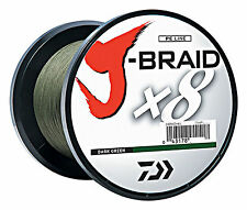 Daiwa J Braid 20lb 1650 yds Fishing Line Dark Green Eight Strand Weave Braid New