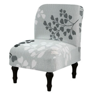 Slipper Chair Cover Prints Accent Chair Slipcover Home Hotel Armless Chair Decor