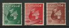 KEVIII SET OF 3 STAMPS WATERMARK INVERTED USED