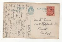 Uffculme 28 Jul 1920 Single Ring Postmark Devon 843b