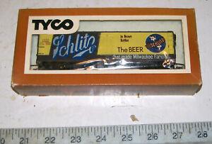 RARE Vintage TYCO SCHLITZ BEER HO  Reefer Refrigerator Advertising Car with OB.
