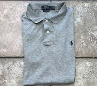 Pre-owned Polo Ralph Lauren Pima Soft Touch Solid Gray Polo Shirt Men's Size 2XL
