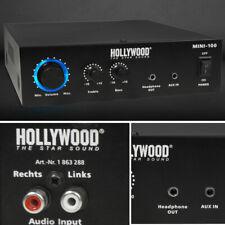 100 Watt DJ PA Kompakt Verstärker Party Musik-Equipment Endstufe AUX HiFi Anlage