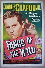"""US 1 sht movie poster 27""""x41"""" FANGS OF THE WILD Film Orig. One Sheet 1954 VF"""
