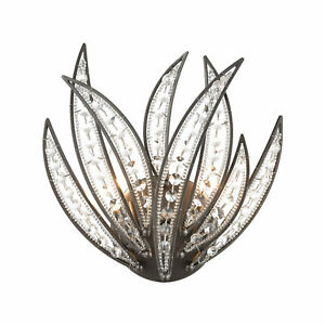 Naples 2-Light Sconce in Dark Graphite with Clear Crystal