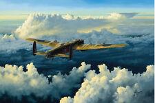 Avro Lancaster Bomber Plane 101 Squadron Aircraft Airplane Painting Art Print