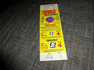 Original 1973 Unused World Series Game 4 Ticket- A Beauty!!
