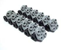 LEGO / 12 NEW 2x2 Round Base w/ Trolley Wheels - 2655 & 2496 Lt gray w/ black